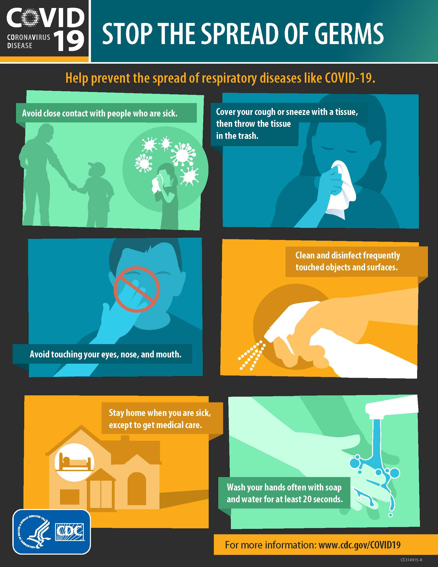 Image - CDC Stop the Spread of Germs