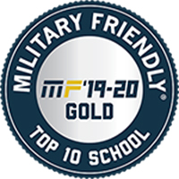 Image - Military Friendly Top 10 Graduate School Logo