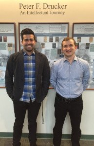 Alumni Joshua Maldonado and  Phillip Leathers participated in Drucker competition