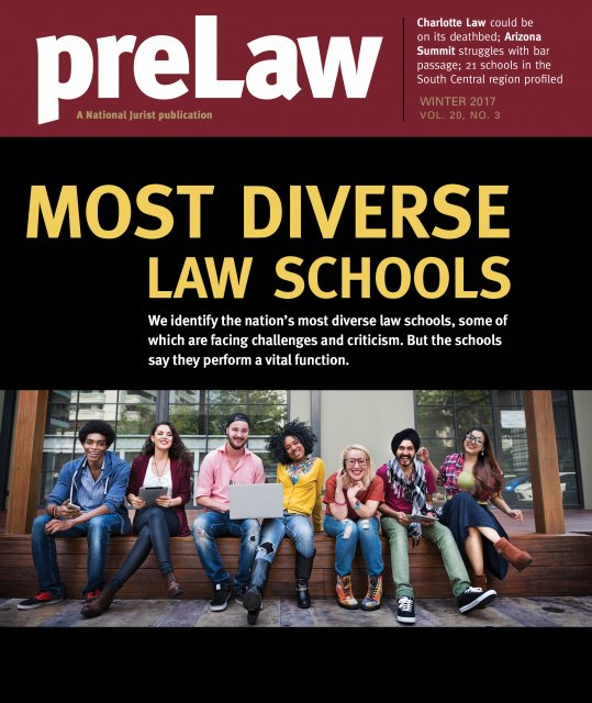 Cover of preLaw Magazine