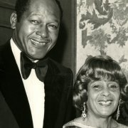 Tom and Ethel Bradley at Southwestern's First Annual Tom Bradley Scholarship Fund Dinner in 1978
