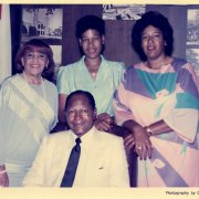 Mayor Bradley with his wife, Ethel, and daughters Phyllis and Lorraine