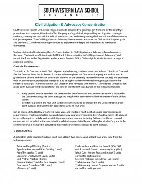 Image - Civil Litigation & Advocacy Concentration Flyer