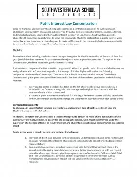 Image - Public Interest Law Concentration Flyer