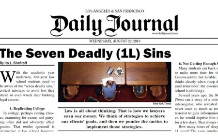 Image - Daily Journal Header for Professor Shafiroff's Seven Deadly 1L Sins