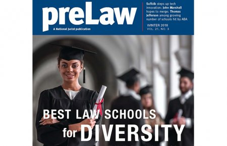 Winter 2018 preLaw Magazine Cover