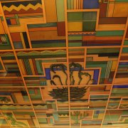 Ceiling mural in Cactus Lounge
