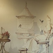 Elizabeth Duquette mural in Law Library