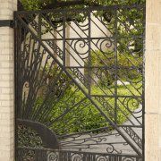 Sunburst wrought-iron gate